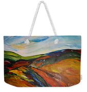 abstract landscape-Haloze Weekender Tote Bag