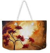 Abstract Landscape Painting Empty Nest 12 By Madart Weekender Tote Bag by Megan Duncanson