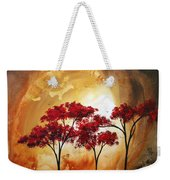 Abstract Landscape Painting Empty Nest 2 By Madart Weekender Tote Bag by Megan Duncanson