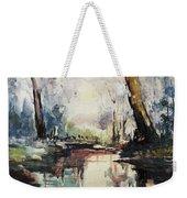 Original Watercolor Painting. Abstract Watercolor Landscape Painting Weekender Tote Bag