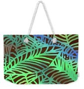 Abstract Leaves Cocoa Green Weekender Tote Bag