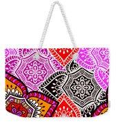 Abstract Mandala Floral Design Weekender Tote Bag