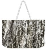 Abstract Monochrome Bark Weekender Tote Bag