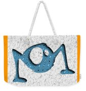 Abstract Monster Cut-out Series - Blue Rambler Weekender Tote Bag