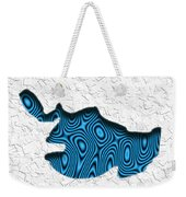 Abstract Monster Cut-out Series - Blue Swimmer Weekender Tote Bag