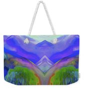 Abstract Mountains By Nixo Weekender Tote Bag