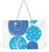 Abstract Nature Blue Weekender Tote Bag