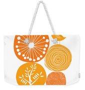Abstract Nature Orange Weekender Tote Bag