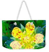 Abstract Of A Wild Buttercup Flower Weekender Tote Bag