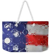 Abstract Oil And Water Usa 2 Weekender Tote Bag