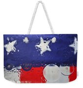 Abstract Stars And Stripes Weekender Tote Bag