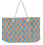 Abstract Orange, Red And Cyan Pattern For Home Decoration Weekender Tote Bag