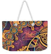Abstract Pattern With Purple Weekender Tote Bag