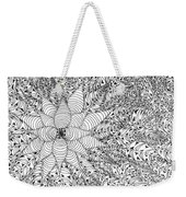 Abstract Pen And Ink Design In Black And White Weekender Tote Bag