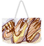 Abstract Pen Drawing Nine Weekender Tote Bag