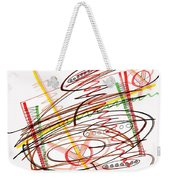 Abstract Pen Drawing Seven Weekender Tote Bag