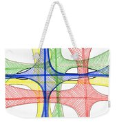 Abstract Pen Drawing Seventeen Weekender Tote Bag