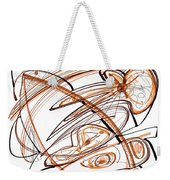Abstract Pen Drawing Ten Weekender Tote Bag