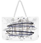 Abstract Pen Drawing Thirty-four Weekender Tote Bag
