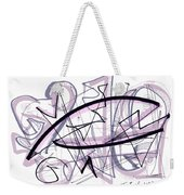 Abstract Pen Drawing Thirty-six Weekender Tote Bag