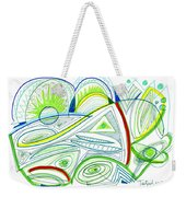Abstract Pen Drawing Thirty-two Weekender Tote Bag