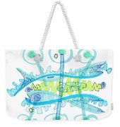 Abstract Pen Drawing Twenty-five Weekender Tote Bag