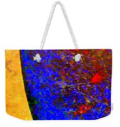 Abstract Photo Blue Yellow Weekender Tote Bag
