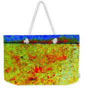 Abstract Photo In Yellow And Blue Weekender Tote Bag