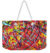 Abstract Pizza 2 Weekender Tote Bag