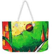 Abstract Pop Art Original Painting Weekender Tote Bag