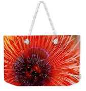 Abstract Poppy Weekender Tote Bag