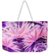 Abstract Purple Flowers Weekender Tote Bag