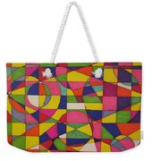 Abstract Rainbow Of Color Weekender Tote Bag