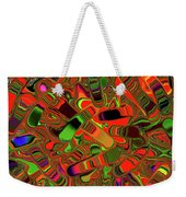 Abstract Rainbow Slider Explosion Weekender Tote Bag