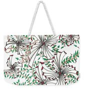 Abstract Red And Green Design  Weekender Tote Bag