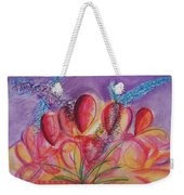 Abstract Red And Purple And Blue Weekender Tote Bag