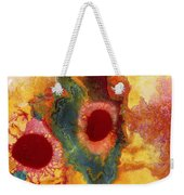 Abstract Red Flower Garden Panoramic Weekender Tote Bag