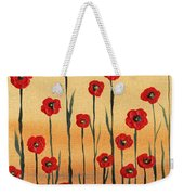 Abstract Red Poppy Field Weekender Tote Bag