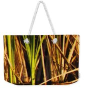 Abstract Reeds Triptych Top Weekender Tote Bag