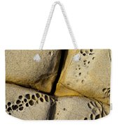 Abstract Rock Pocked With Holes And Divided By Lines Weekender Tote Bag