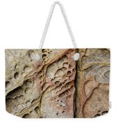 Abstract Rock Stained With Red And Gold Weekender Tote Bag
