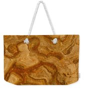 Abstract Rock With Swirling Lines Weekender Tote Bag