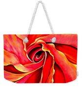 Abstract Rosebud Fire Orange Weekender Tote Bag
