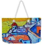 Abstract Santorini Sunset Oia Windmills  Weekender Tote Bag