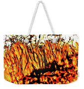Abstract Saw Grass Iv Weekender Tote Bag