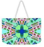 Abstract Seamless Pattern  - Blue Green Purple Pink White Weekender Tote Bag