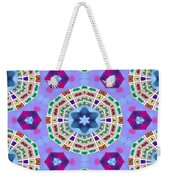 Abstract Seamless Pattern  - Blue Purple Pink Violet Lilac Orange Green Weekender Tote Bag