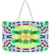 Abstract Seamless Pattern  - Yellow Blue Turquoise Purple Pink White Green Weekender Tote Bag