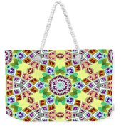 Abstract Seamless Pattern  - Yellow Brown Gray Purple Green Weekender Tote Bag