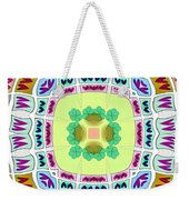 Abstract Seamless Pattern  - Yellow Green Blue Purple White Gray Weekender Tote Bag